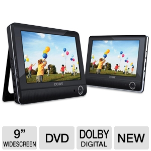 "COBY TFDVD9952 9"" Dual Screen Portable DVD Player"