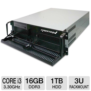 CybertronPC Quantum Core i3 3U Rackmount Server