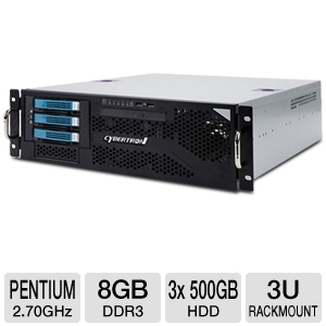 CybertronPC Caliber Pentium 3U Rackmount Server