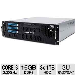CybertronPC Caliber Core i3 3U Rackmount Server