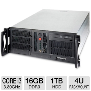 CybertronPC Quantum Core i3 4U Rackmount Server