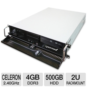 CybertronPC Quantum Celeron 2U Rackmount Server