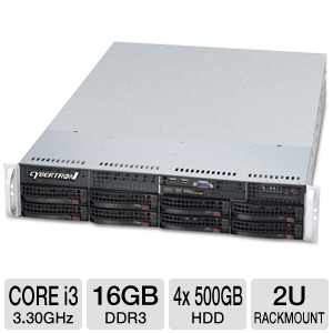 CybertronPC Imperium Core i3 2U Rackmount Server