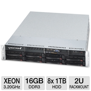 CybertronPC Magnum Intel Xeon 2U Rackmount Server