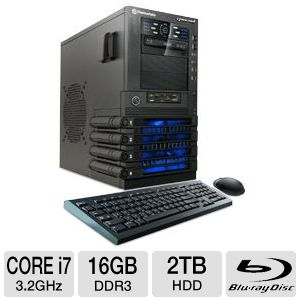 CybertronPC Core i7 2TB HDD 16GB DDR3 Gaming PC