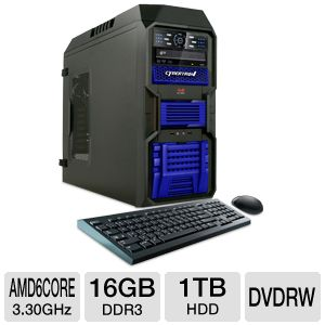 CybertronPC AMD A6 1TB HDD 16GB DDR3 Gaming PC