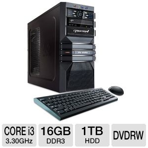 CybertronPC Core i3 16GB DDR3 Gaming PC