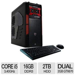 CybertronPC Core i5 16GB DDR3 2TB HDD Gaming PC