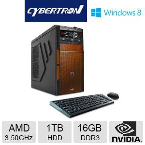 CybertronPC AMD FX 1TB HDD 16GB DDR3 Gaming PC