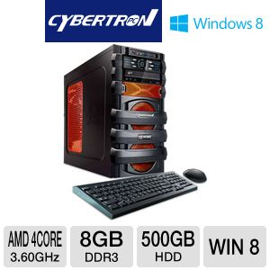CybertronPC AMD FX 500GB HDD 8GB DDR3 Gaming PC