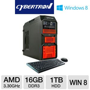 Cyberton AMD FX 1TB HDD 16GB DDR3 Gaming PC