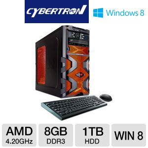 CybertronPC AMD FX 1TB HDD 8GB DDR3 Gaming PC
