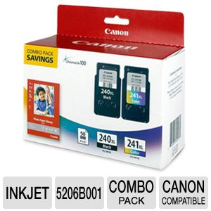 Canon PG240XL Black / CL241XL Color Combo Pack