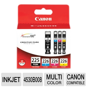 Canon 4 Color Pack Black Cyan Magenta Yellow