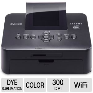 Canon Selphy Wireless Printer in Black