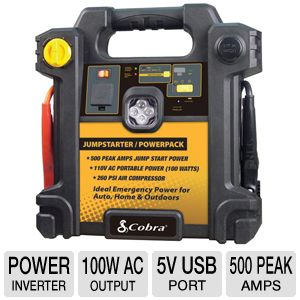 Cobra CJIC250 Jump Starter and AC / DC Power Pack