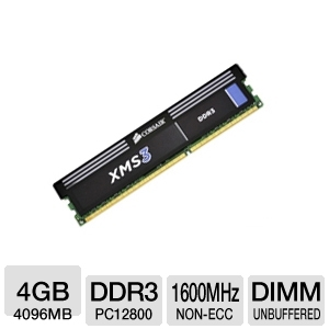 Corsair XMS3 4GB PC12800 DDR3 RAM