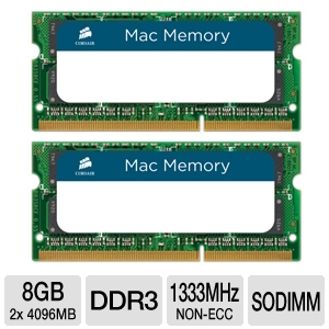 Corsair 8GB DDR3-1333MHz SO-DIMM Mac Memory Kit
