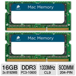 Corsair 16GB (2x8GB) DDR3 1333MHz Laptop RAM Kit