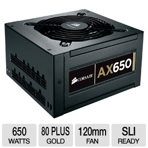 Corsair AX650 Modular 80 Plus Gold 650W PSU