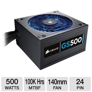 Corsair 500W Gaming Series GS500 80 Plus PSU