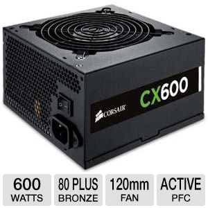 Corsair CX600 V2 CX Series 600W Power Supply