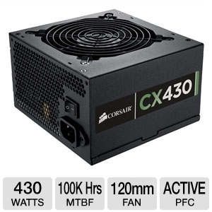 Corsair 430W Builder Series� CX430 80 Plus PSU