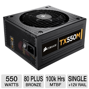 Corsair 550W 80 Plus Bronze Modular PSU
