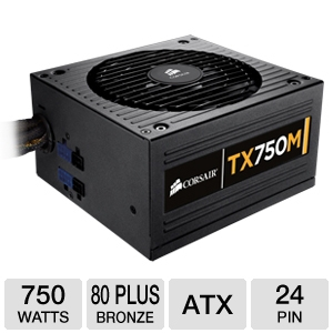 Corsair TX750M 750W Modular 80 Plus Bronze PSU