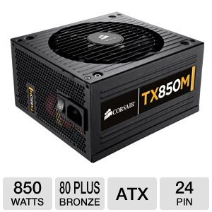 Corsair TX850M Modular 850W 80 Plus Bronze PSU