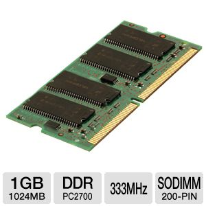 Corsair 1024MB DDR SODIMM Laptop Memory