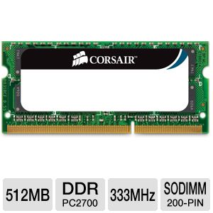 Corsair 512MB PC2700 SODIMM