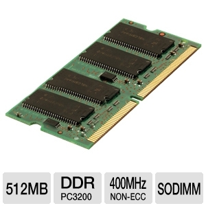 Corsair 512MB DDR SODIMM Laptop Memory