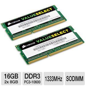 Corsair Value Select 16GB Memory Module Kit