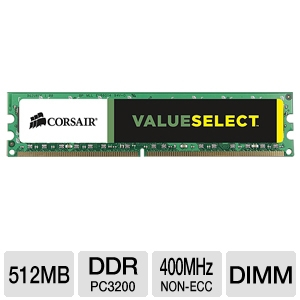 Corsair Value Select 512MB Memory Module