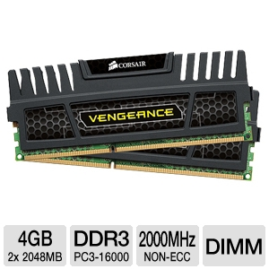 Corsair Vengeance 4GB (2x 2GB) DDR3 2000MHz Kit