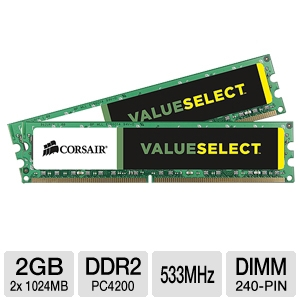 Corsair 2048MB PC4200 DDR2