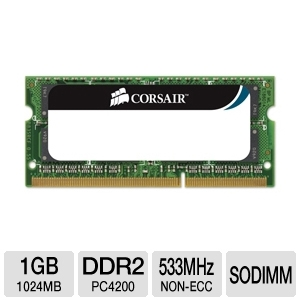 Corsair 1024MB DDR2-533MHz Laptop Memory Module