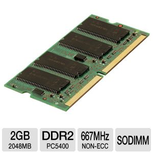 Corsair 2048MB DDR2 SODIMM Laptop Memory