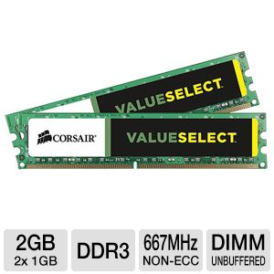 Corsair Value Select 2048MB PC5300 DDR2 Memory