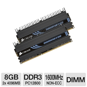 Corsair Dominator Dual Channel 8GB Memory Module