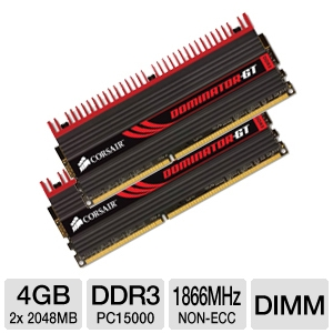 Corsair  Dominator GT Dual Channel 4GB DDR3 RAM