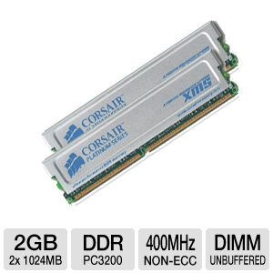 Corsair XMS Dual Channel 2048MB PC3200 DDR Memory