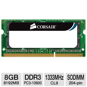 Corsair 8GB DDR3 Laptop Memory Module