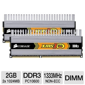 Corsair XMS3 2GB Dual Channel Memory