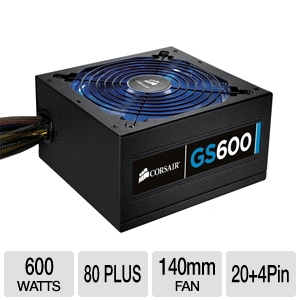 Corsair CMPSU-600G 600-Watt Gaming Series GS600 Po