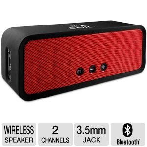 ChilBox Bluetooth Portable Red Wireless Speaker