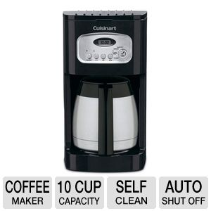 Cuisinart DCC-1150BK Programmable Thermal Coffee Maker - 10 Cup, Double Walled Insulated Carafe ...
