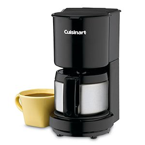 Cuisinart Stainless Steel Carafe CoffeeMaker - 4-Cup Capacity, Dripless Pour Spout, Brew Pause Feature™, 30-Minute Automatic Shut Off, Black - DCC-450BKFR(Refurbished)