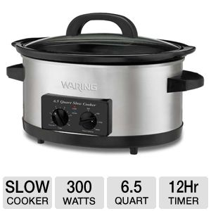 Waring Pro WSC650 6.5 Quart Slow Cooker